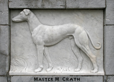 Master McGrth Relief on the Monument in Dungrven, Ireland
