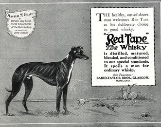Master McGrath in a Red Tape Whiskey Ad