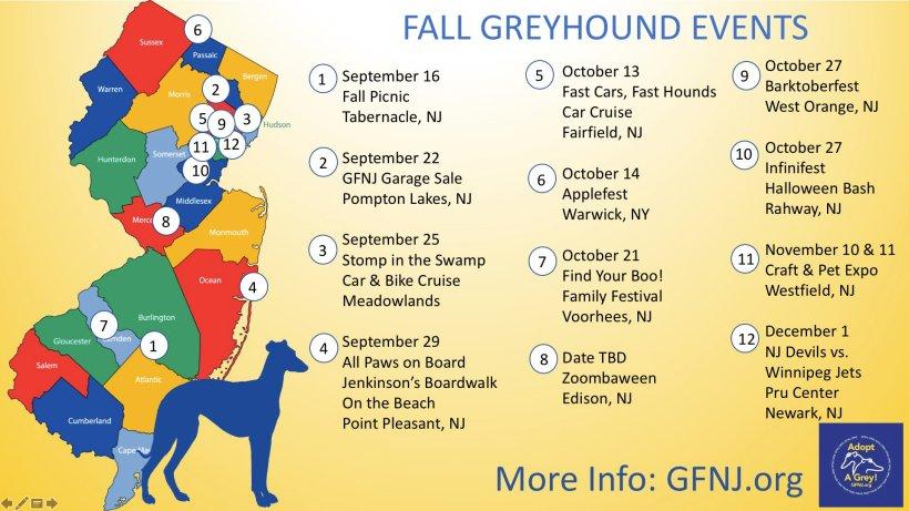 Fall Map Calendar